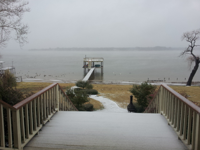 "photo taken by John J. Rigo on February 23rd, 2015 at 9:44 a.m. with Samsung II smartphone at  Northwood Shores on Cedar Creek Lake from Lake front home called ""Oz."" copyright 2015 John J. Rigo"